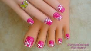 Nail designs flower step by paint design