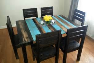 Kitchens With Black Bench Tops by Distressed Rustic Dining Table Kitchen Table By