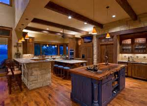 kitchen touch faucets ranch rustic kitchen by mccalla interiors
