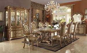 acme furniture vendome gold patina dining set With furniture home corp