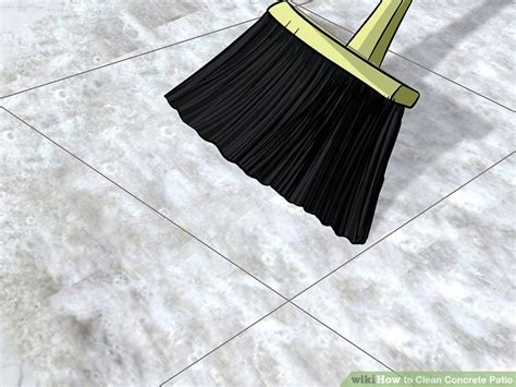 How To Clean Cement Porch by 3 Ways To Clean Concrete Patio Wikihow