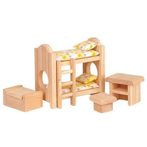 wooden dollhouse furniture plan toys classic bedroom
