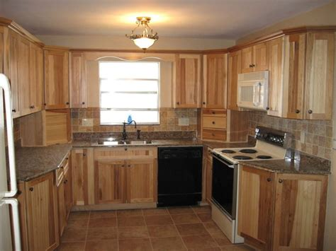 Kitchen Tile Idea - hickory kitchen cabinets characteristic materials home design decor idea home