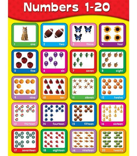 numbers 1 20 chart grade pk 2 carson dellosa publishing 197 | 114060