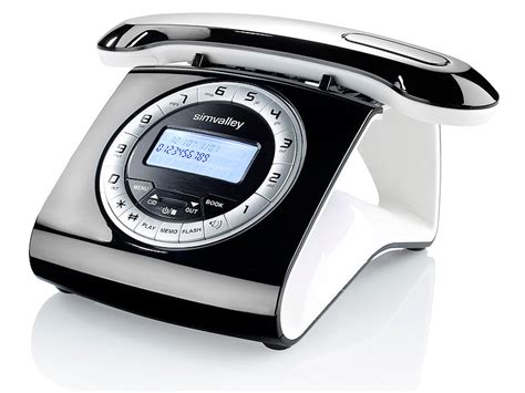 Retro Telefon Schnurlos by Simvalley Communications Retro Dect Schnurlostelefon Mit