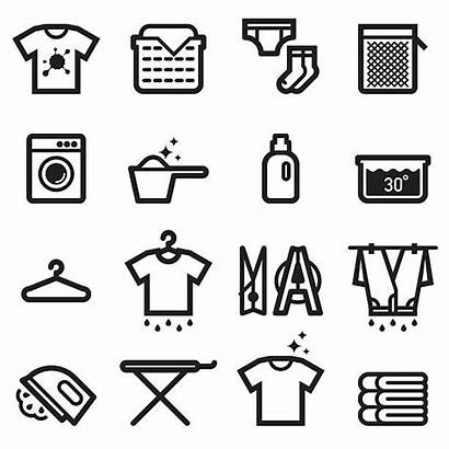 Laundry Icons Clipart Clip Washing Istockphoto Machine