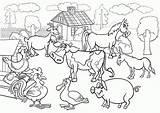 Coloring Pages Scenes Farming Farm Animals Popular sketch template