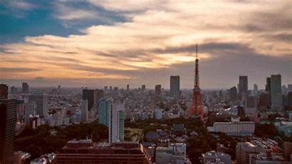 Japan Tokyo Sunset Night Sky Urban Gifs