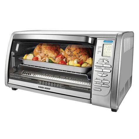 countertop convection oven black decker 6 slice digital convection toaster oven in
