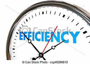 Efficiency productivity clock word work results 3d ...