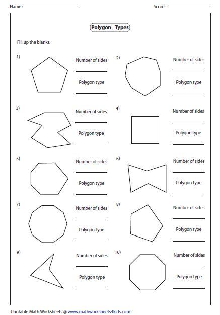 polygons worksheets doc polygon worksheets