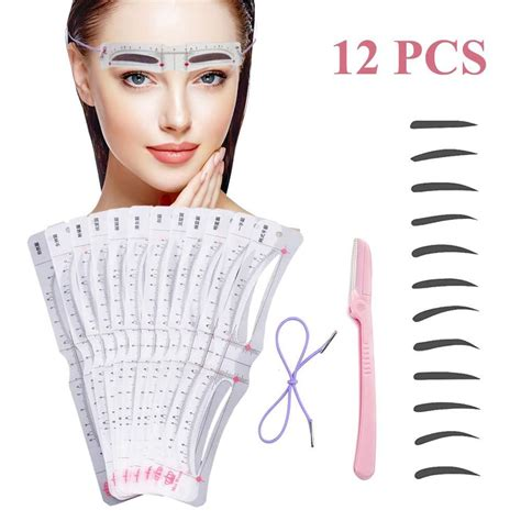 2020 popular 1 trends in beauty & health, home & garden, tools with eyebrow stencil kits and 1. Eyebrow Stencil,12 Pcs Reusable Eyebrow Template With ...