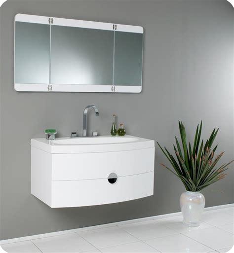 bathroom basin ideas fresca energia white modern bathroom vanity with three