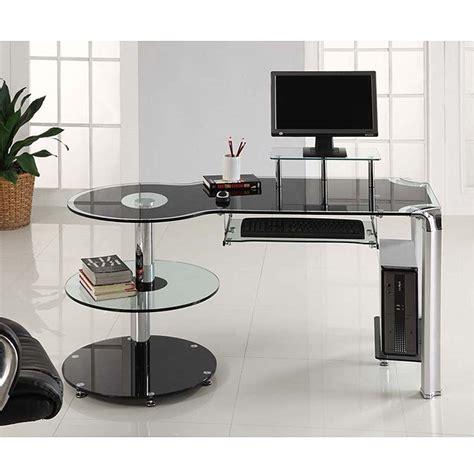 Black Corner Computer Desk Uk by Black Glass Corner Computer Desk Uk Hostgarcia
