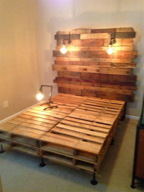 pallet bed  edison builds  birdcage light frames