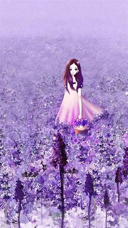 Purple Wallpapers Anime Iphone Flower Garden Backgrounds