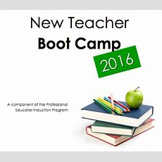 New Teacher Boot Camp