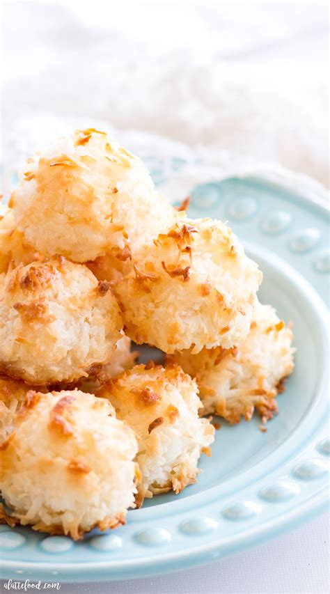 easy coconut macaroons  latte food