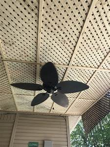 New Lattice Panel Ceiling Under The Roof By The Pool