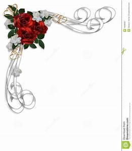 elegant gold border bridal shower invitation car With wedding invitations borders red