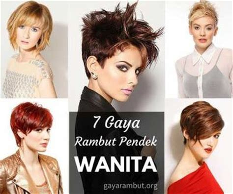 model rambut pendek wanita terbaru  gaya rambut