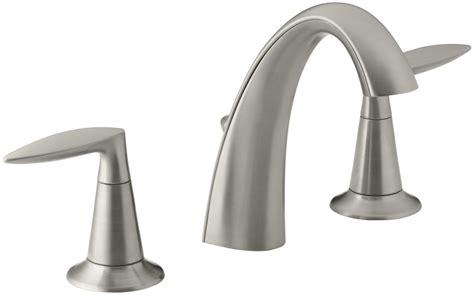 kohler bathroom sink faucets faucet k 45102 4 bn in vibrant brushed nickel by kohler