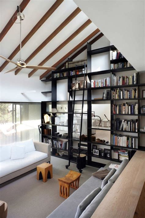 modern home library designs  stand  digsdigs