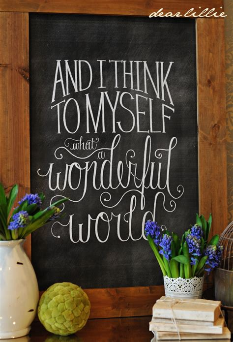 diy wonderful world chalkboard print beneath  heart