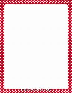 Red and White Polka Dot Border | Write a letter ...