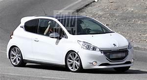 Peugeot 208 Blanche : la peugeot 208 gti nouveau surprise en cours d essais sur la route news f line 208 ~ Gottalentnigeria.com Avis de Voitures