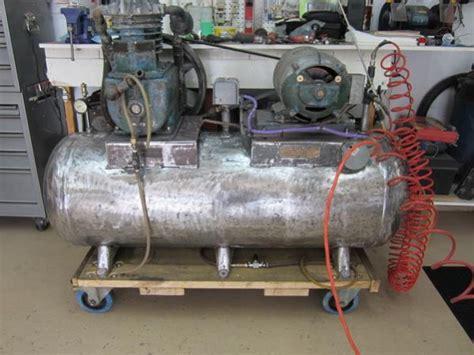 air compressor brunner  powered  wagner electric motor