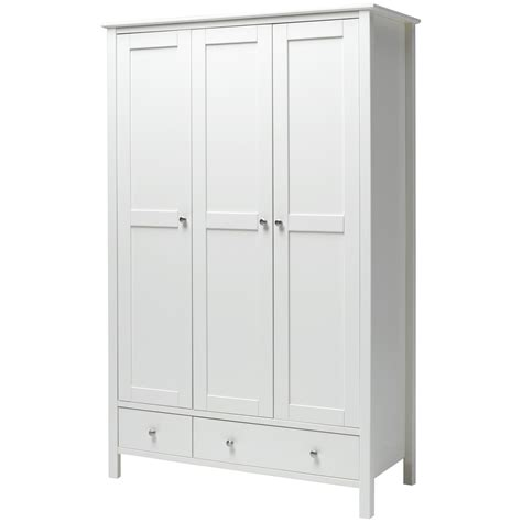 White Wardrobe And Drawers by 15 Photos 3 Door White Wardrobes With Drawers