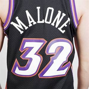 Mitchell Ness Utah Jazz 32 Karl Malone Black Pink