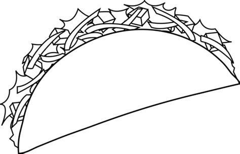 colorable taco  art  clip art