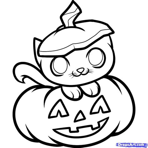 draw  halloween cat halloween cat step