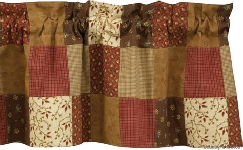 s quilt lined patchwork curtain valance