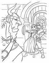 Pan Coloring Frying Defense Pages Tangled Colorkid sketch template