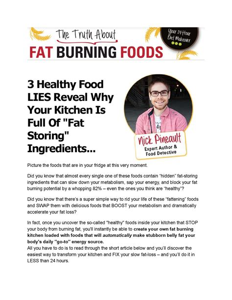 The Truth About Fat Burning Foods By Marcos Dasiel Issuu