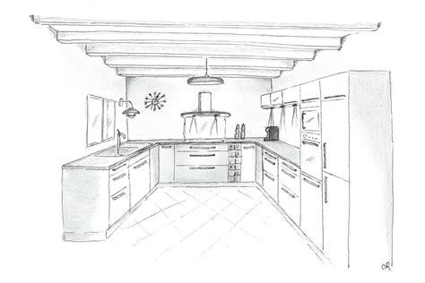 cuisine dessin comment dessiner un plan de maison en perspective auto