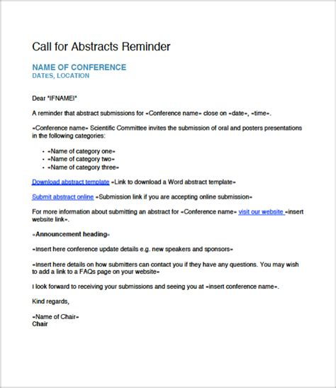 Abstract Template Free Call For Abstract Email Templates Currinda