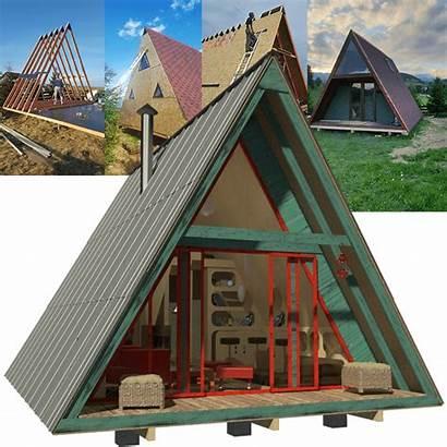Plans Frame Tiny Cabin Loft Build Floor