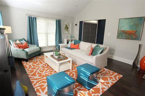Teal And Orange Living Room Decor Smileydotus