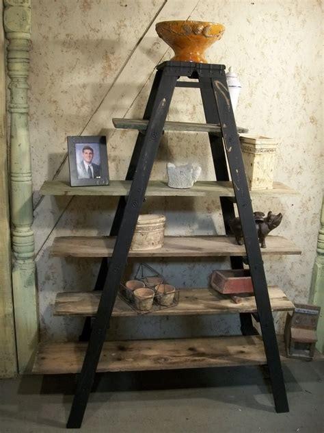 vintage ladder shelf 6 step ladder shelf frame we will paint or leave it 3231