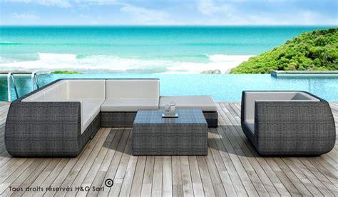 fauteuil bureau haut de gamme salon de jardin bas lounge luxe rsine grise 6 8 places