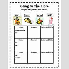 Money Goin' Shoppin'  3rd  Math  Money Math Games, Teaching Money, Money Worksheets