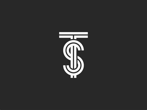 logo ts letters monogram linear art  sergii syzonenko
