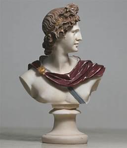 Bust of APOLLO Greek God of Music & Light Alabaster Statue ...
