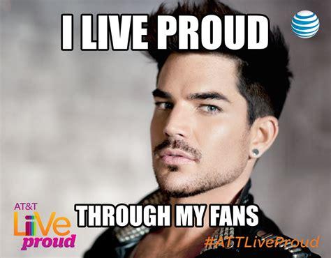 Adam Lambert Memes - join adam lambert s google hangout at t live proud caign mjsbigblog