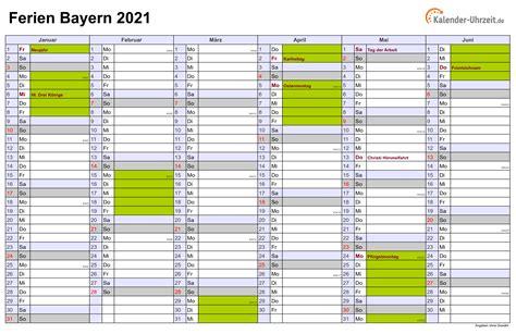 2021 ist kein schaltjahr, es hat 365 tage. Pdf Kalender 2021 Bayern Zum Ausdrucken