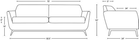Loveseat Dimensions Standard by 1964 Sofa Smart Furniture